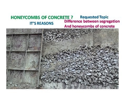 What is honeycombs in concrete ?