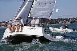 J/111 Django sailing Solent in England