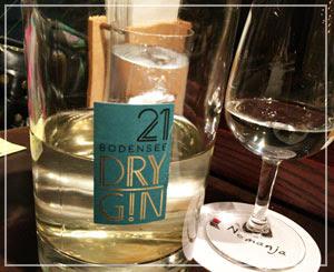 ワインを添加した、ちょっと不思議な飲みやすいジン「BODENSEE DRY GIN 21」。