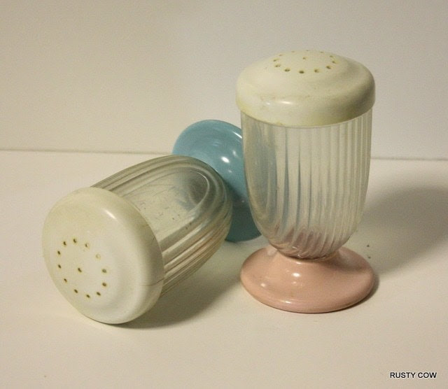 Melmac Bottom Salt and Pepper Shakers
