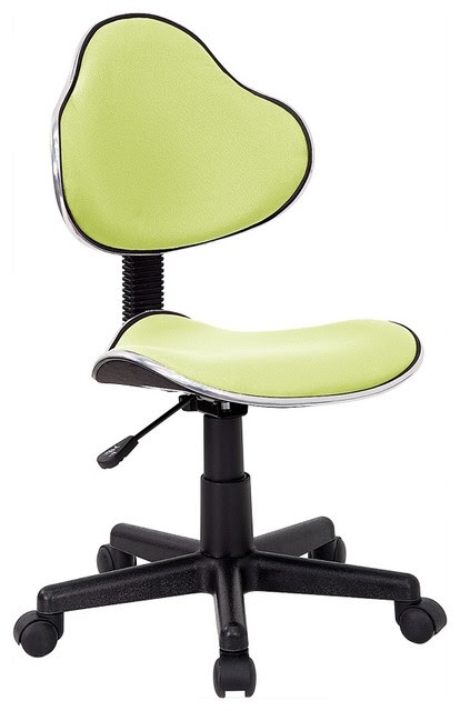 Contemporary Desk Chair w Adjustable Seat Height - contemporary ...