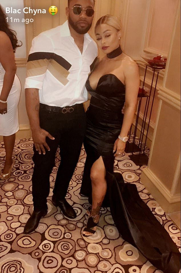 Hair affair: The reality star also posed with her hair stylist Kellon Deryck at the event