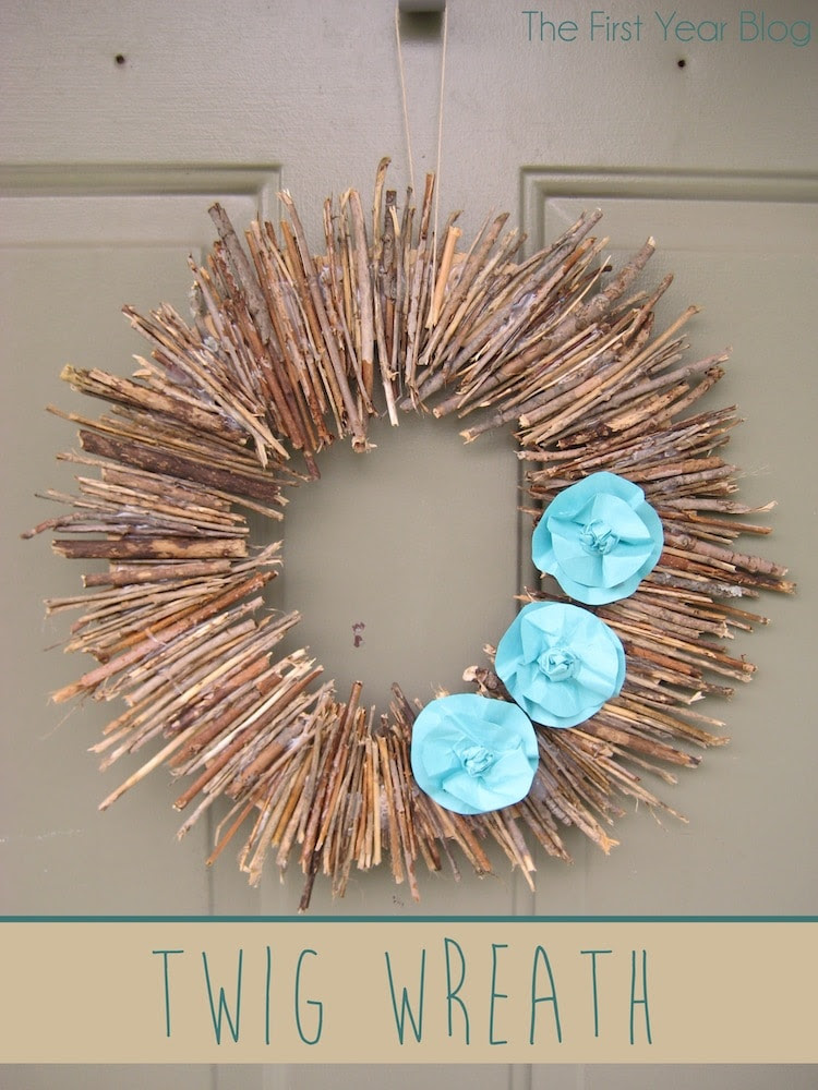 Twig Wreath #twigwreath