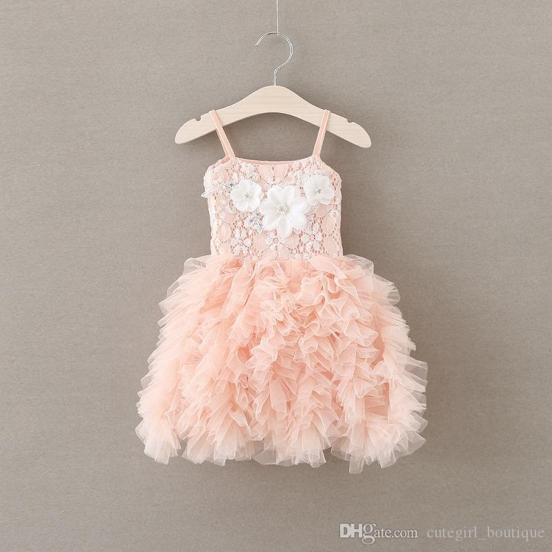 2018 girl party wear western dress baby girl party dress