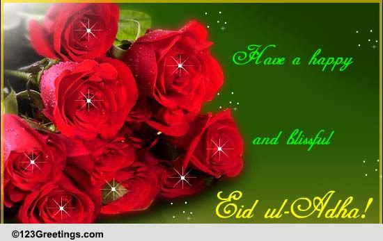 Happiness To You This Eid ul-Adha. Free Flowers eCards