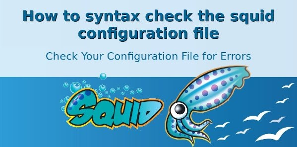 Squid test config file for syntax errors