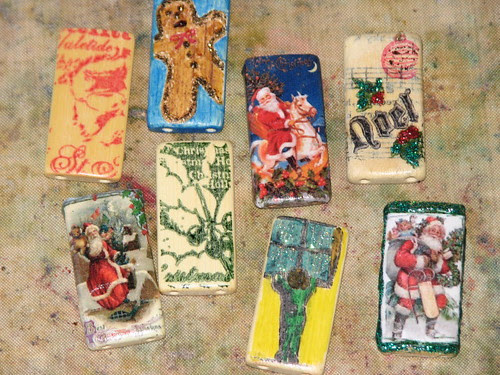 25 Days of Hand Crafted Gifts & Ornaments - Bamboo Tile Charms 009