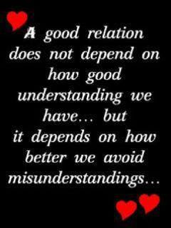 A Good Relation Does Not Depend On How Good Understanding We Have