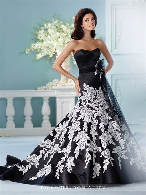 Vestido De Noiva 2017 China Bridal Gowns Black And White