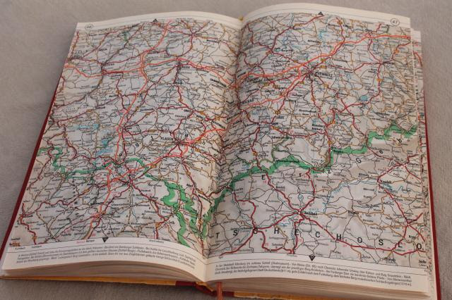 Vintage Shell Auto Atlas Book Of Road Maps Germany