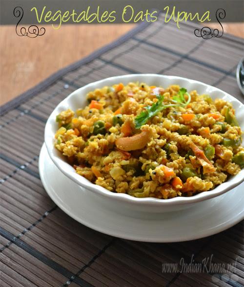 Vegetables Oats Upma Oats Recipes