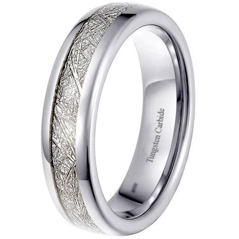 Tungsten Meteorite 6mm Unisex Engagement Wedding Eternity Band