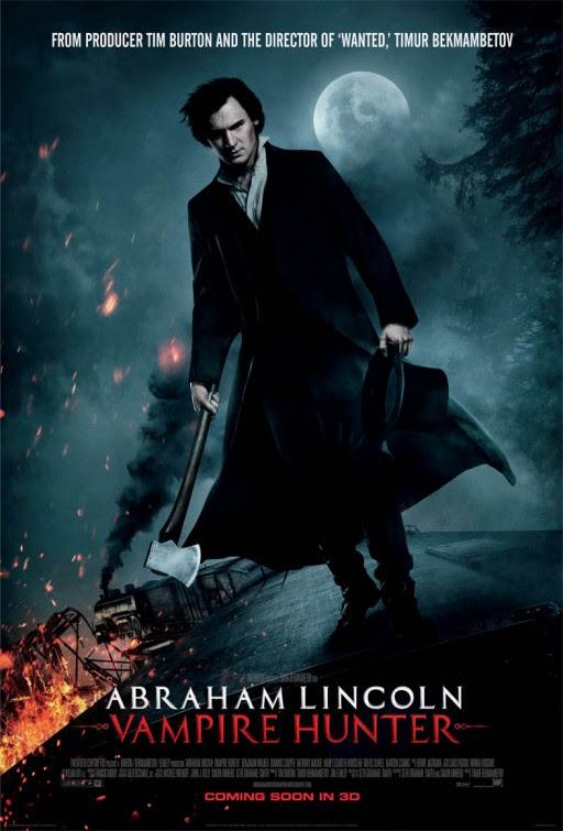 Resultado de imagem para abraham lincoln - Vampire Hunter 2012 posters