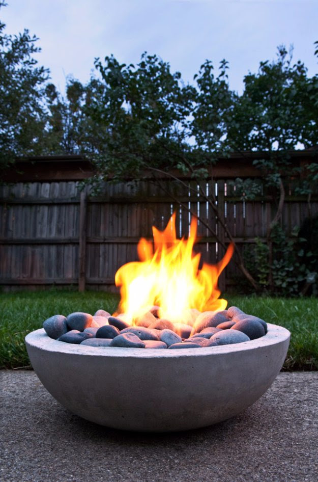 DIY Porch and Patio Ideas - How to Make a DIY Modern Fire PIt from Scratch - Decor Projects and Furniture Tutorials You Can Build for the Outdoors -Swings, Bench, Cushions, Chairs, Daybeds and Pallet Signs  http://diyjoy.com/diy-porch-patio-decor-ideas