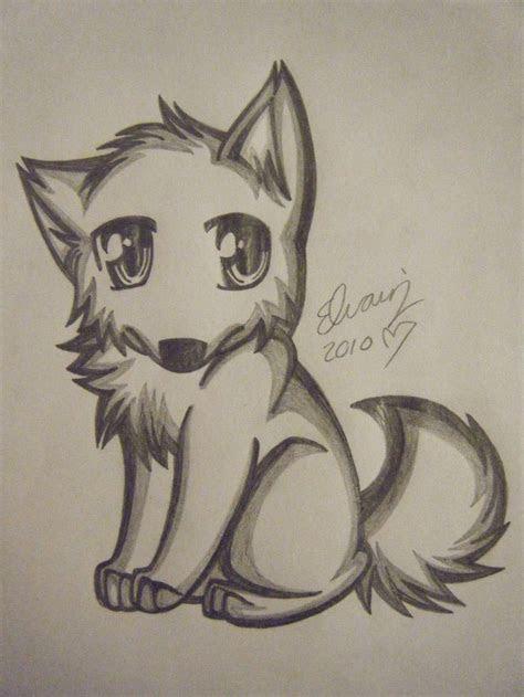 pencil drawings  anime wolf drawing   animefan