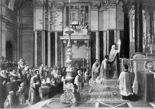Andre Commodi - Messa di S. Ignazio di Loyola a  Manresa