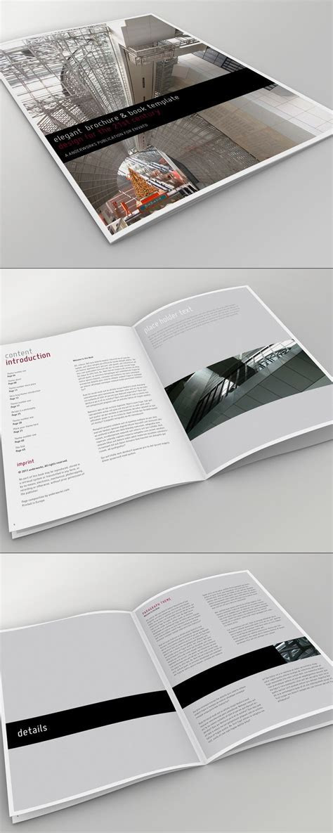 Elegant Brochure   Book Template   Booklet & Brochure