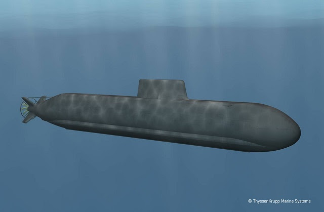 The Type 216 is TKMS' long-range submarine project. Picture: ThyssenKrupp Marine Systems