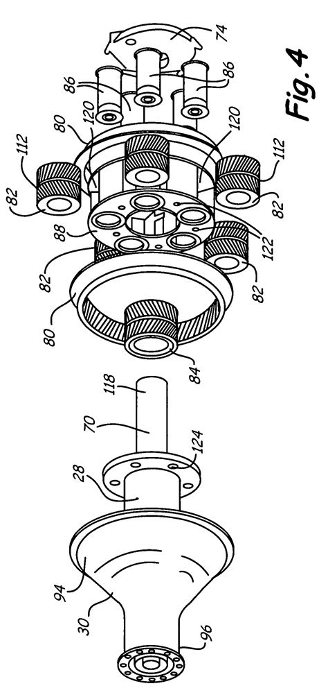 Patent US8205432 - Epicyclic gear train for turbo fan