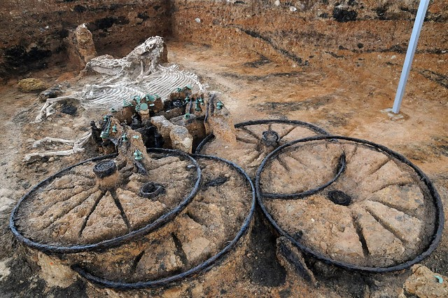 Las misteriosas tumbas de carros con caballos