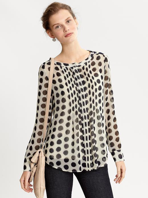 Banana Republic Bella Pintuck Dot Blouse