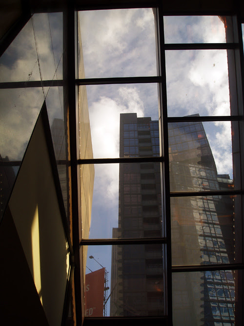 window panels, Times Square, NYC
