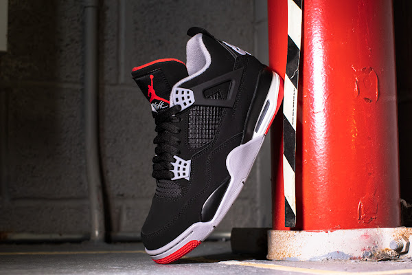 "best sneakers 43724 db703 The Air Jordan 4 ""Bred"" With Nike Air Is Finally Releasing This Weekend"