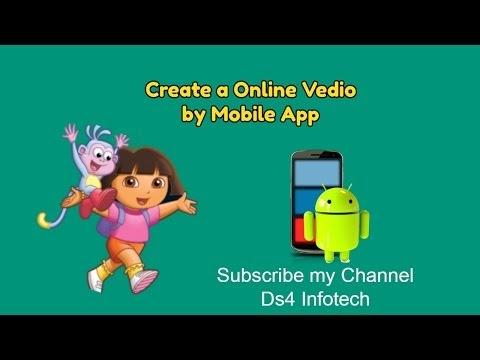 Create  Video By Android Mobile App, Online Video Editor