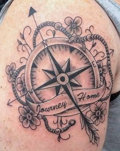Compass Flower Tattoos Images Pictures Page 4 Tattoos Hunter