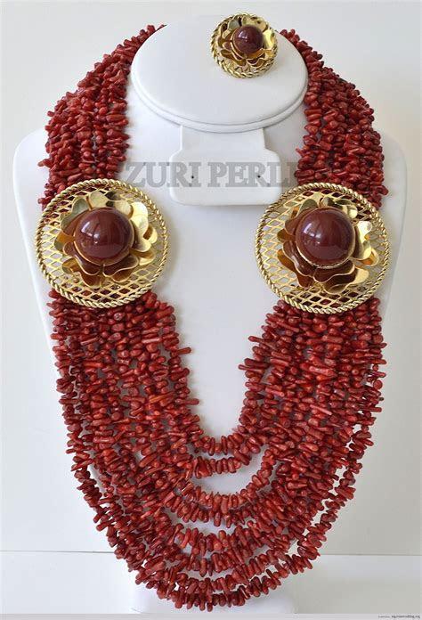 ZURIPEARLRedcoralchipjewelry   The Nigerian Wedding Dress