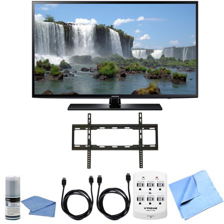 Samsung UN65J6200 - 65 inch Full HD 1080p 120hz Smart LED HDTV Flat Mount Bundle includes UN65J6200 65-Inch Full HD TV, Screen Cleaning Kit, HDMI Cable 6' x 2, 6 Outlet Wall Tap w\/ 2 USB Ports, Flat