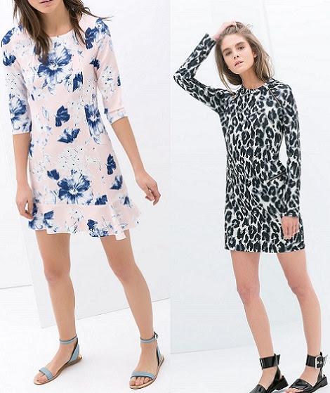 vestidos de zara estampados para mujer primavera 2014