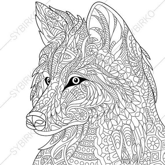 Unique Wolf Pack Hunting Coloring Pages - NiColoring