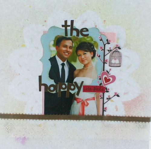 The happy lovebirds