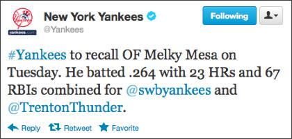 https://twitter.com/Yankees/status/245264739456925696