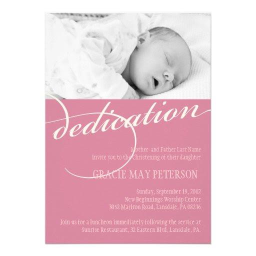 Fresh Baby Dedication Invitations Free
