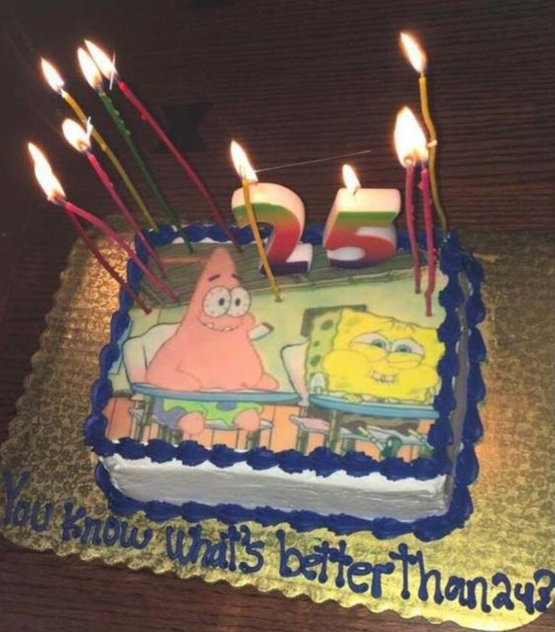 Funny Birthday Cakes For Adults 25th Birthday Cake Spongebob Themed