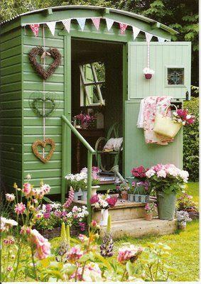 Gypsy caravan garden shed