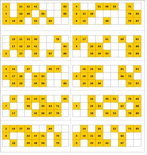 Free Printable Bingo Card 1 - 90 Ball Bingo | print | Pinterest ...