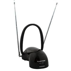 Lloytron 50db Amplified UHF//VHF//DAB FM Indoor Digital HD TV Aerial Antenna Black