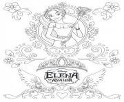 Coloriage Elena D Avalor à Imprimer