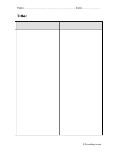 Blank 2 Column Notes Form - Freeology