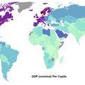 Mapa mundial: PIB per cápita nominal