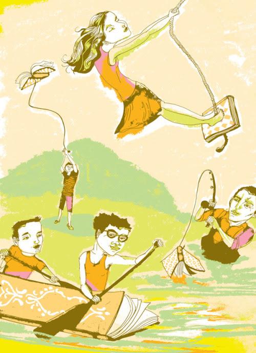 Hobby: read / Hobby: lectura (ilustración de Kim Rosen)