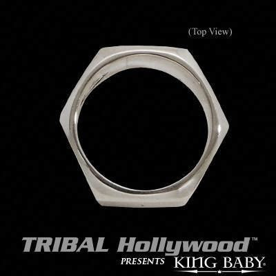 NUTS AND BOLTS RING Sterling Silver Lug Nut Ring by King