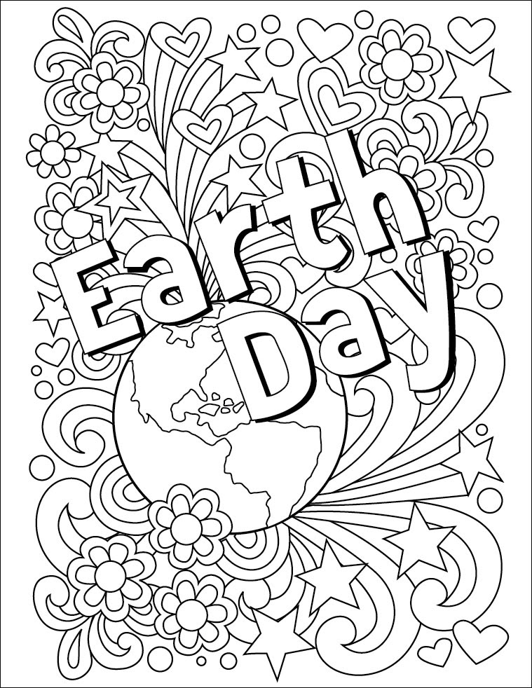 Earth Day Coloring Page - Art Projects for Kids