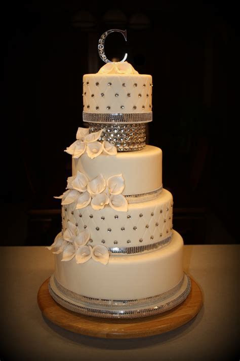 Bling Wedding Cake   CakeCentral.com