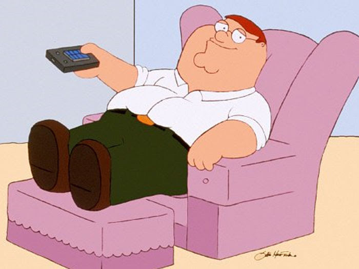 A la Homer Simpson, Peter Griffin também não é um bom exemplo para os filhos Stewie, Meg e Chris