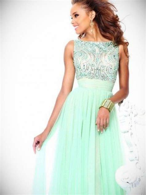 Long Mint Chiffon Dress   Make You Look Thinner   24 Dressi