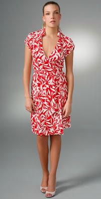 Diane von Furstenberg Jilda Cap Sleeve Wrap Dress